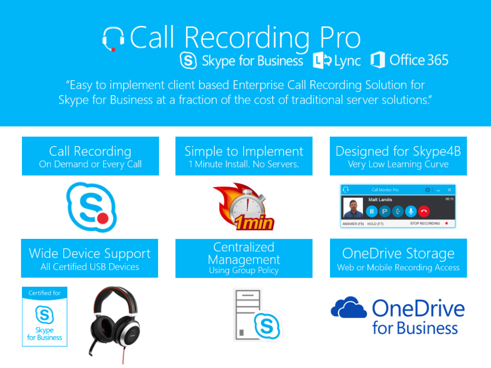 Overview of Call Recording Pro for Skype for Business & Office 365