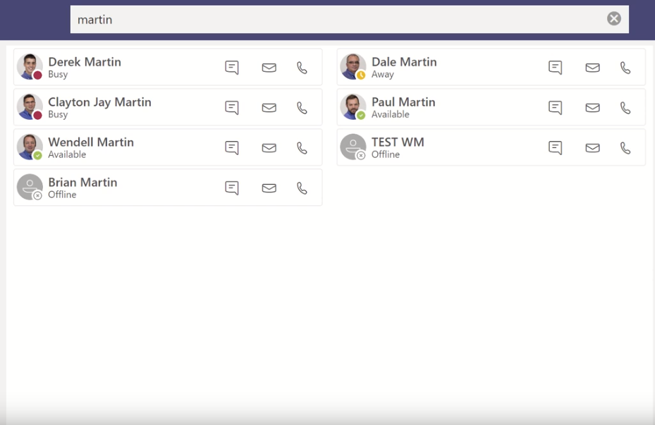 Landis Contact Center for Microsoft Teams Presence