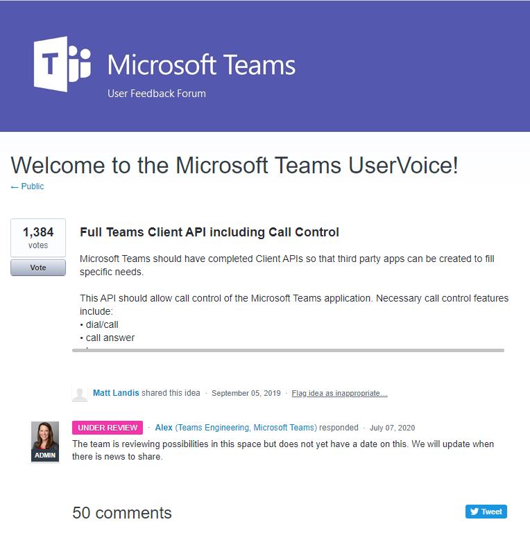 Microsoft Teams Attendant Console