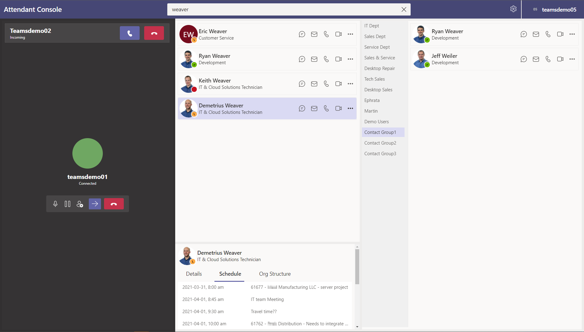 Landis Attendant Console for Microsoft Teams